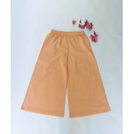 Two Feet Orange Elasticated-Waist Cotton Palazzo